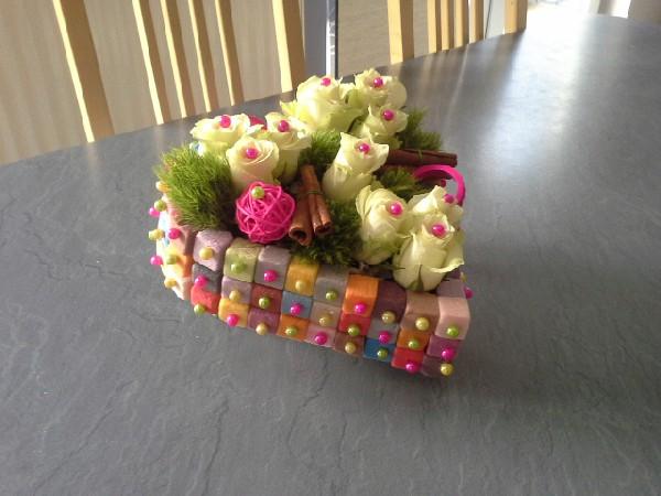 Montage réalisé lors de l'atelier floral de février 2015