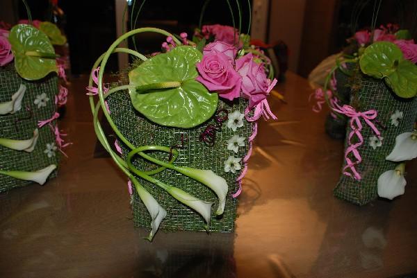 Petit sac réalisé lors d'un atelier floral